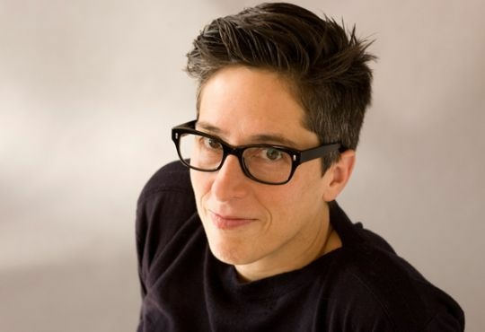 Portrait of graphic novelist Alison Bechdel