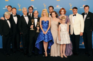 'Mad Men' cast and crew members, winners of the Outstanding Drama Series Award pose in the press room at the 62nd Annual Primetime Emmy Awards held at the JW Marriott Los Angeles at L.A. Live on August 29, 2010 in Los Angeles, California.