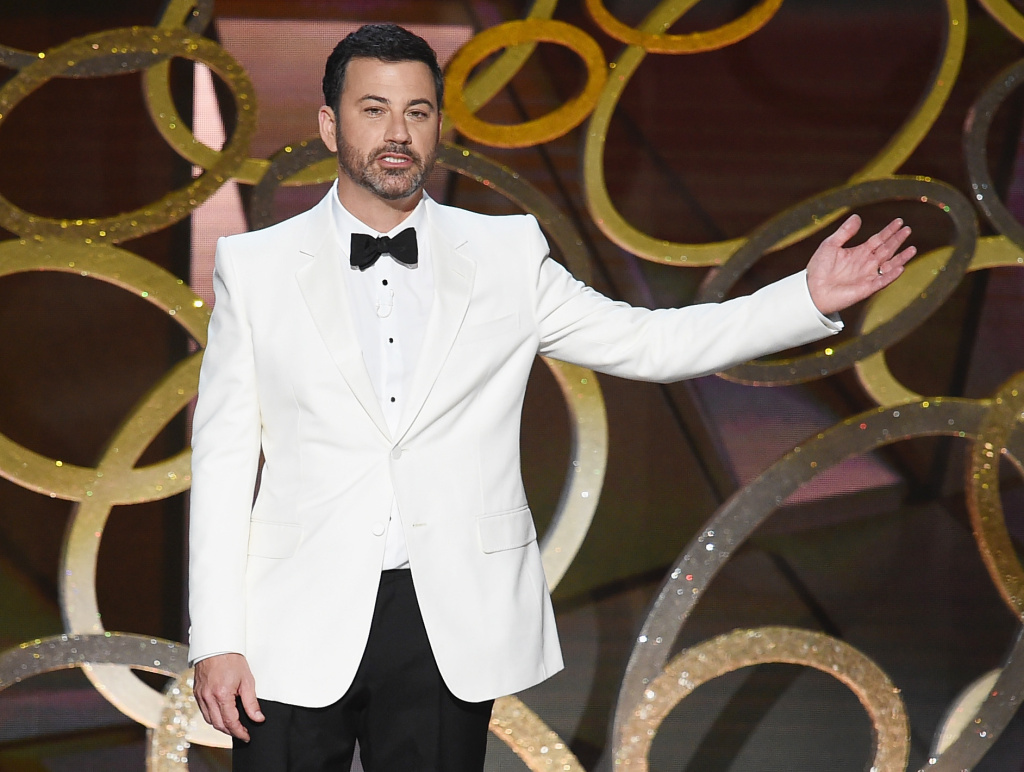 File: Jimmy Kimmel will hosts the 89th Oscars on Sunday, February 26, 2017.