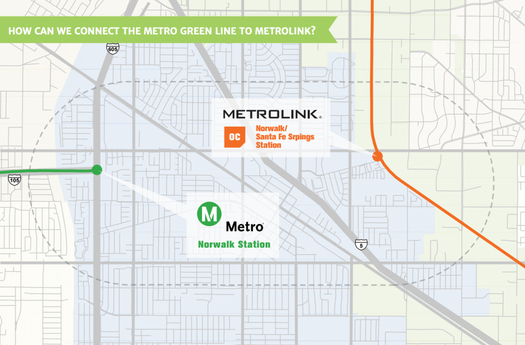 Green Line Norwalk map
