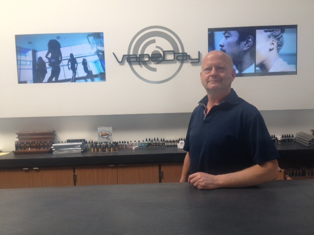 Tim Goldberg, owner of VapeDay, told KPCC he worries how the new ordinance will affect him personally.