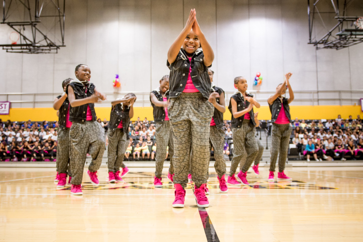 Los Angeles Unified students involved in LA's BEST's After School Arts Program compete in a Dance and Drill Team Competition at Cal State LA.