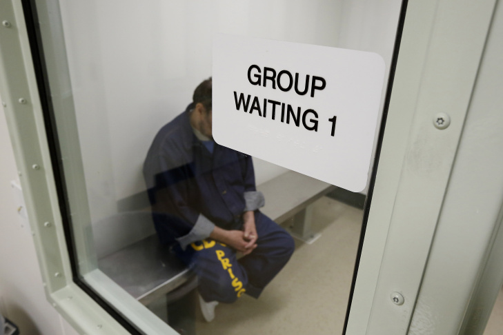 Inmates await treatment at the new mental health treatment unit at the California Medical Facility in Vacaville.