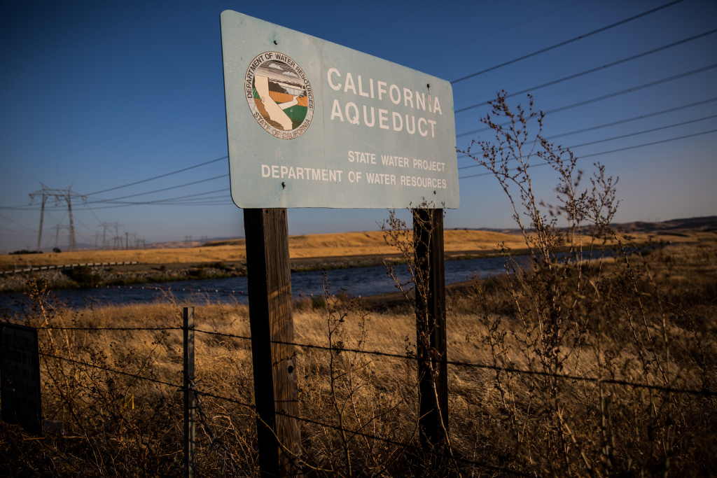 The California Aqueduct runs near Mountain House sending water to Southern California as part of the State Water Project.