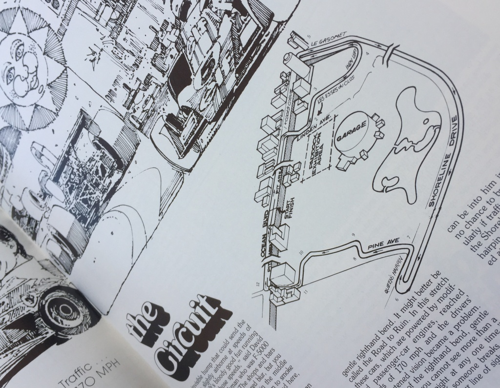 A layout description of the Grand Prix track from 1976 via the program guide of that year.