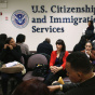 NEW YORK, NY - JANUARY 29: Immigrants wait for their citizenship interviews at the U.S. Citizenship and Immigration Services.