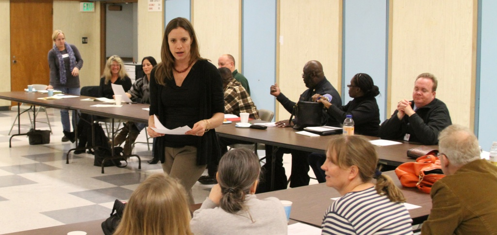 Kate Movius of Autism Interaction Solutions leading a recent training exercise