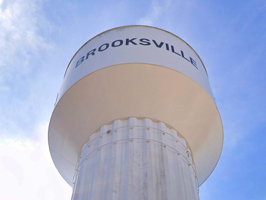 The Brooksville water tower was accidentally sold by the city to a businessman who was trying to buy a municipal building at the tower's base.