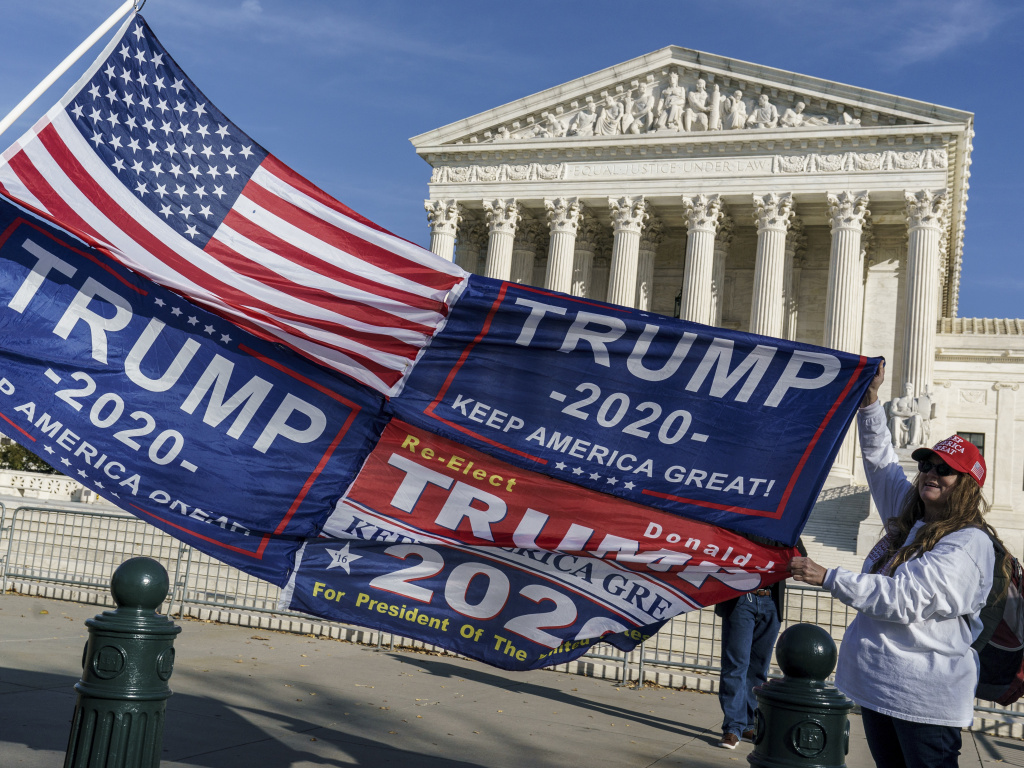 Election cases are among those before the U.S. Supreme Court, though none that will change President Trump's defeat.