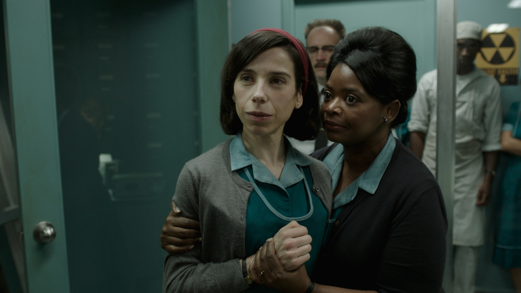 """Sally Hawkins and Octavia Spencer in """"The Shape of Water."""""""