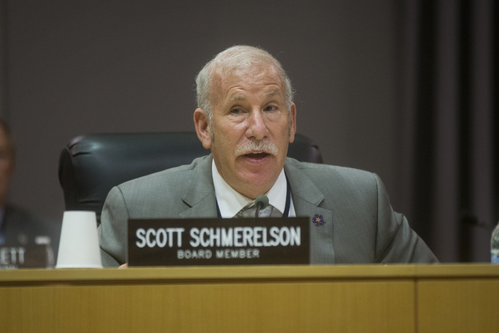 board member scott schmerelson speaks during lausds annual board of education meeting on wednesday july