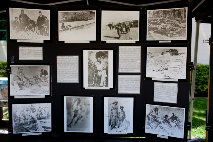 From 1915 to 1923 Turkish soldiers killed about 1.5 million Armenians were killed. On April 19th, students at Glendale Community College display posters to educate the community about the genocide.