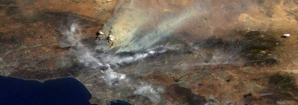 NASA'S view of the Station fire was somewhat higher than Jeff Baugh's.