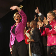 Senate Candidate Tammy Baldwin Holds Election Night Gathering In Madison, Wisconsin