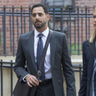 "Patrick Sabongui as Reda Kazem and Claire Danes as Carrie Mathison in ""Homeland."""