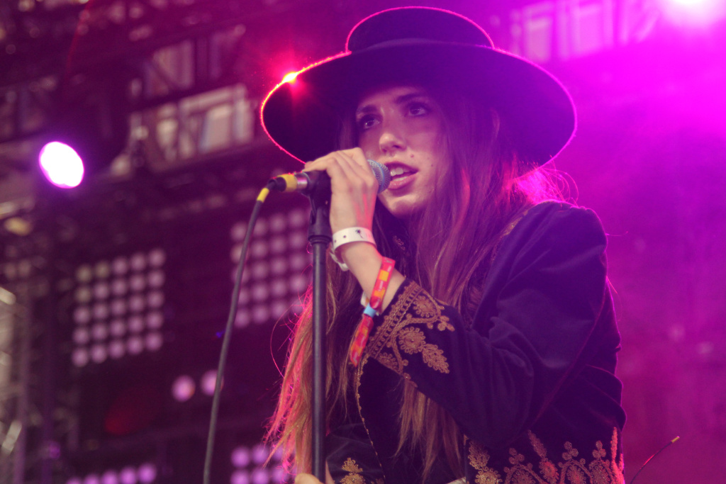 Ryn Weaver performs on Day Two of the Coachella Music Festival.