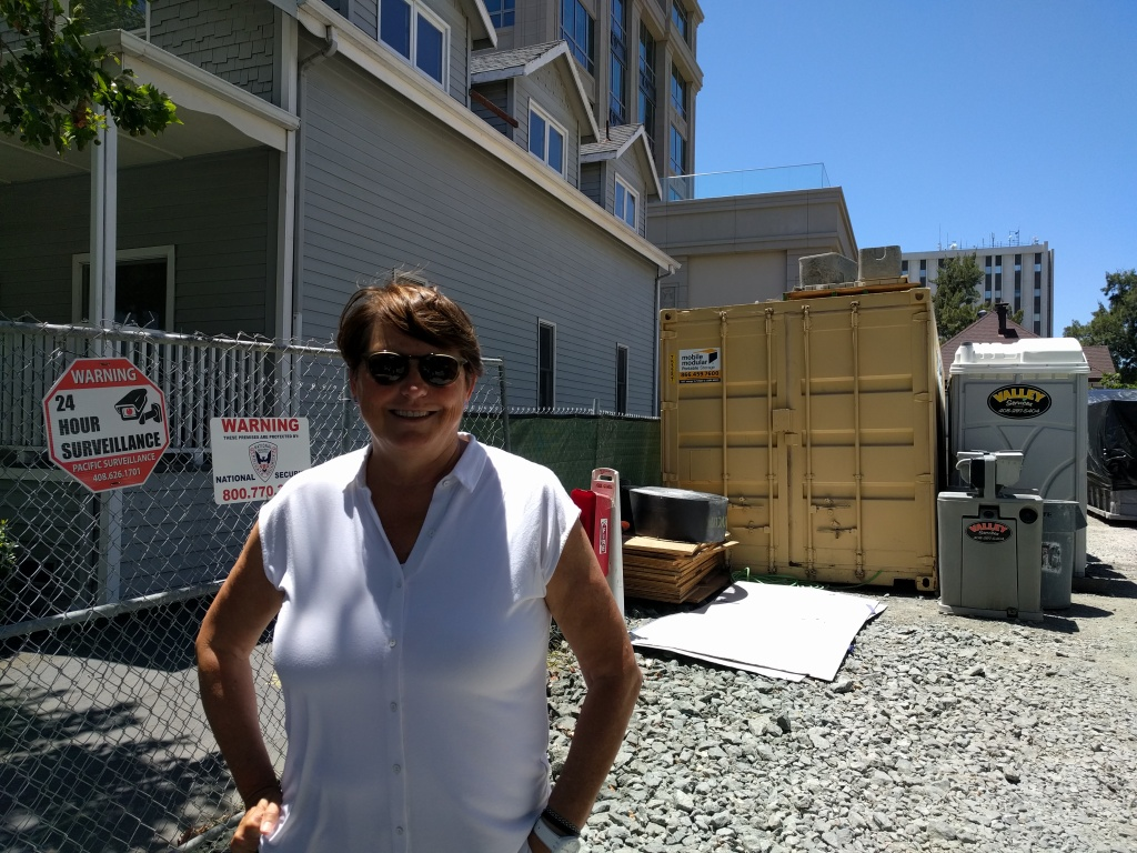 Maureen Sedonaen, CEO of Habitat for Humanity Greater San Francisco, stands in the vacant lot where the nonprofit is looking to build new affordable housing.