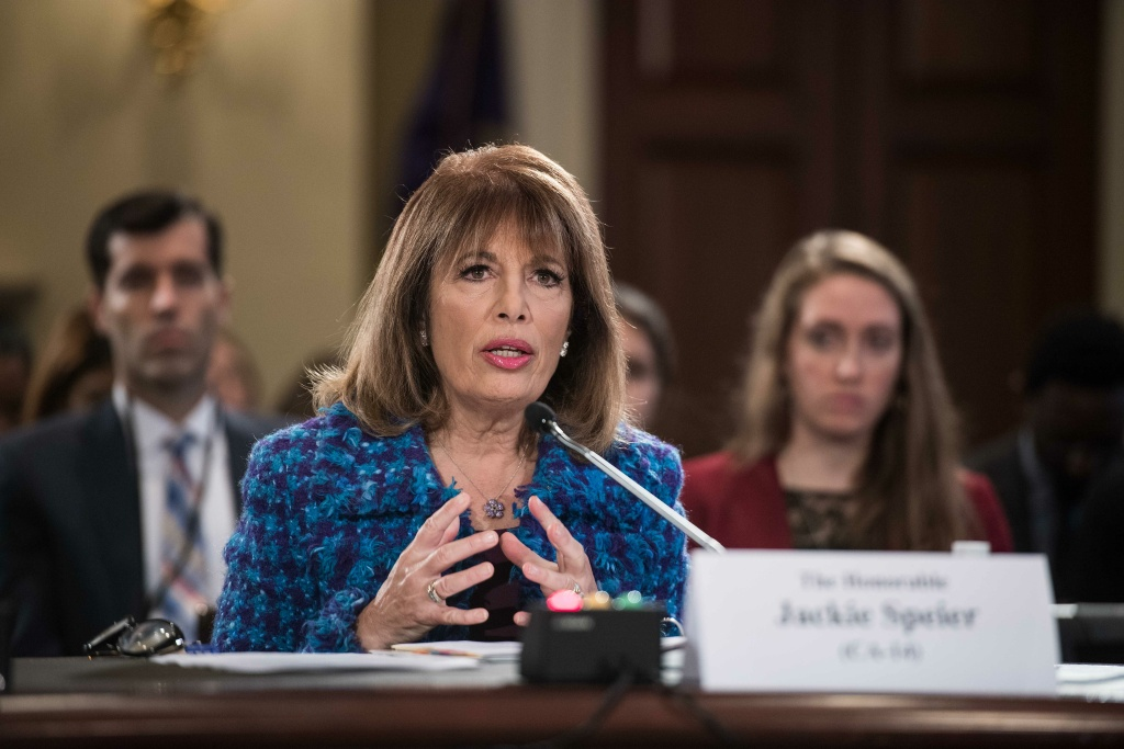 US Democratic Representative from California Jackie Speier speaks during a House Administration Committee hearing on