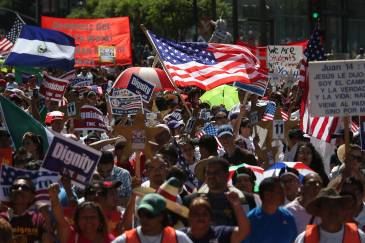 Thousands March In National Day Of Immigrant Dignity And Respect