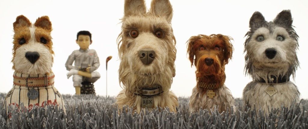 "(From L-R): Bill Murray as ""Boss,"" Koyu Rankin as ""Atari Kobayashi,"" Edward Norton as ""Rex,"" Bob Balaban as ""King"" and Jeff Goldblum as ""Duke"" in the film ""Isle of Dogs."""