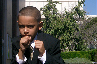 Ten-year-old champion boxer Moises