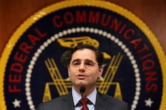 U.S. Federal Communications Commission Chairman Julius Genachowski proposes net neutrality rules at FCC headquarters in Washington, DC.