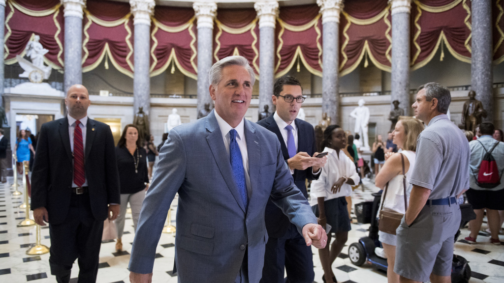 House Majority Leader Kevin McCarthy says the sanctions will show those who work against America's interests that their