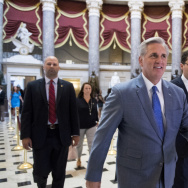 "House Majority Leader Kevin McCarthy says the sanctions will show those who work against America's interests that their ""actions have consequences."""