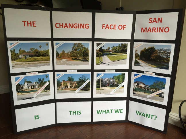 In San Marino, residents are fighting teardowns and the building of homes they consider too large for their lots.