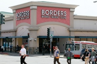 Pedestrians walk by a Borders Bookstore in San Francisco, California. Borders Group Inc., the nation's second largest bookstore chain, announced today that it will liquidate the company after they failed to find a buyer following a Chapter 11 bankruptcy filing and attempted reorganization in February. Nearly 400 stores will close and an estimated 11,000 jobs will be lost.
