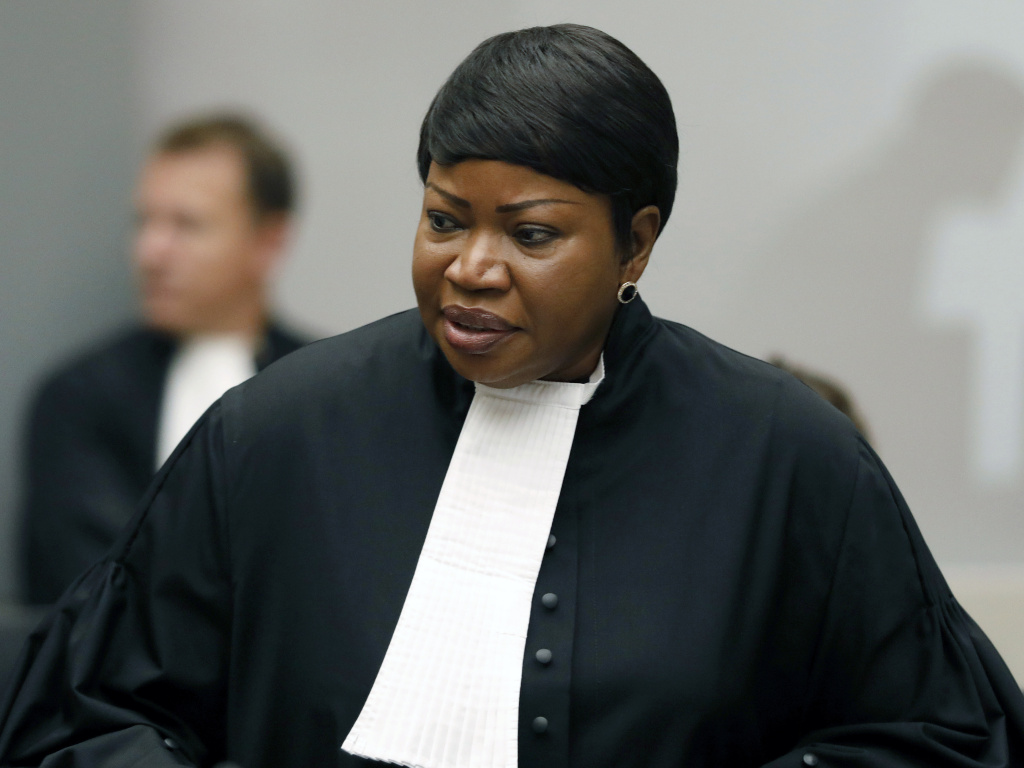 International Criminal Court Chief Prosecutor Fatou Bensouda, seen here in 2018, has been added to the U.S. Treasury's sanctions list. She is leading the court's investigation into alleged U.S. war crimes in Afghanistan.