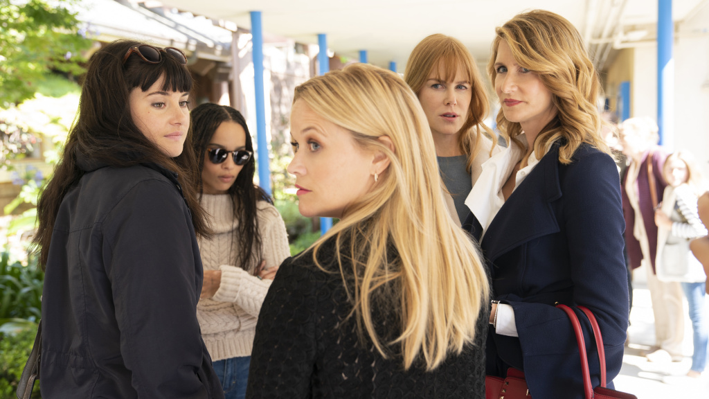 Season 2 of HBO's <em>Big Little Lies</em> finds the so-called Monterey Five (Shailene Woodley, Zoë Kravitz, Reese Witherspoon, Nicole Kidman and Laura Dern) dealing with the emotional aftermath of the killing that concluded Season 1.