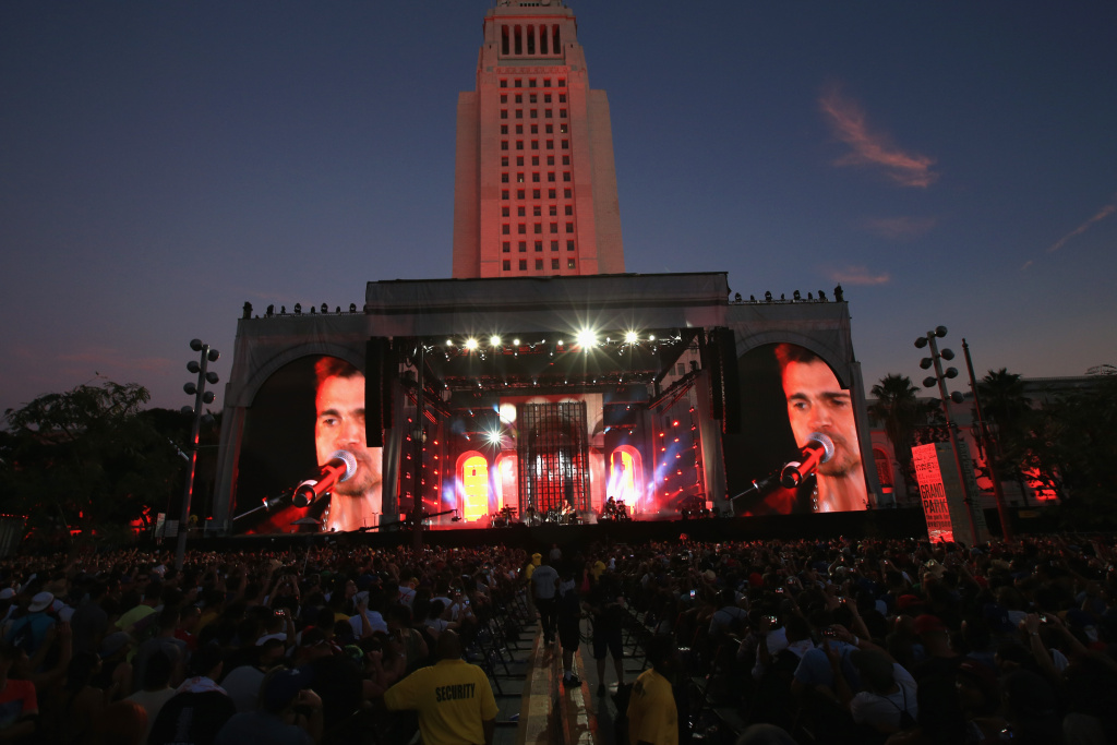 Musician Juanes performs on the Marilyn Stage during day 2 of the 2014 Budweiser Made in America Festival at Los Angeles Grand Park on August 31, 2014 in Los Angeles, California.