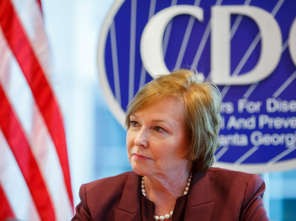 Centers for Disease Control and Prevention Director Dr. Brenda Fitzgerald is photographed at the agency's headquarters in Atlanta, GA on Dec. 5, 2017.