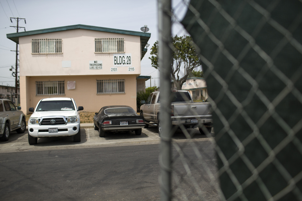 An old steel mill and truck repair facility, where lead and other toxins have been found, sits adjacent to Jordan Downs Housing Projects. The Department of Toxic Substances Control has agreed to review their decision that no cleanup was necessary.