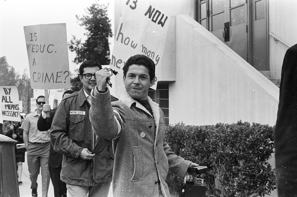 Photograph of the 1968 East L.A. high school walkouts by La Raza newspaper's photographic staff, part of