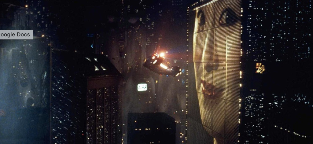 The Blade Runner future that we haven't quite reached.