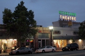 Highland Park's historic Highland Theatre with its bright lights shining for the first time in over 10 years