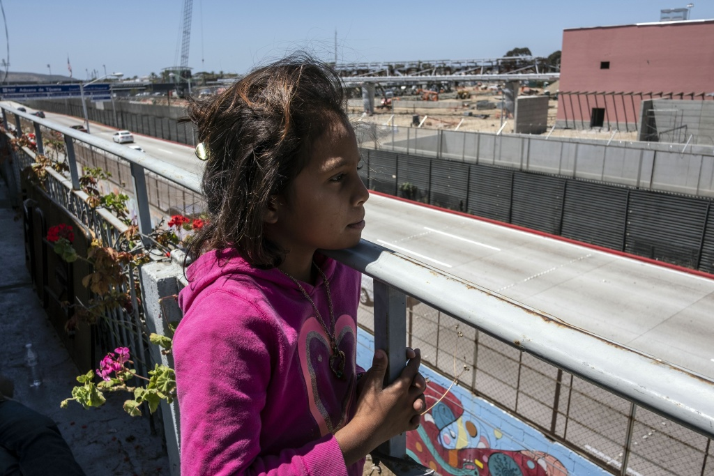 Karina from Honduras, a migrant traveling in the