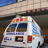 Ambulance Outside of UCLA Medical Center