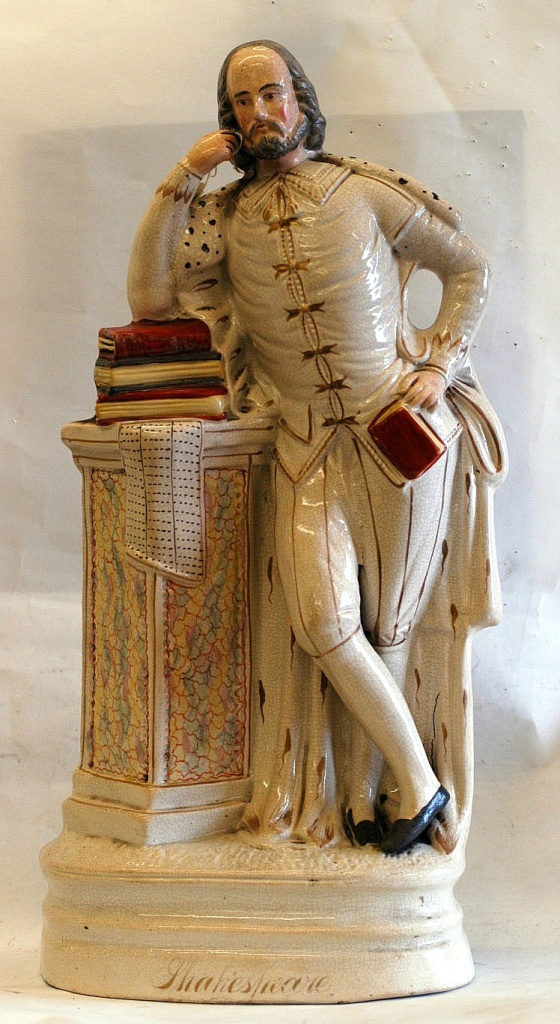 A statuette of William Shakespeare.  Was the bard a faker?
