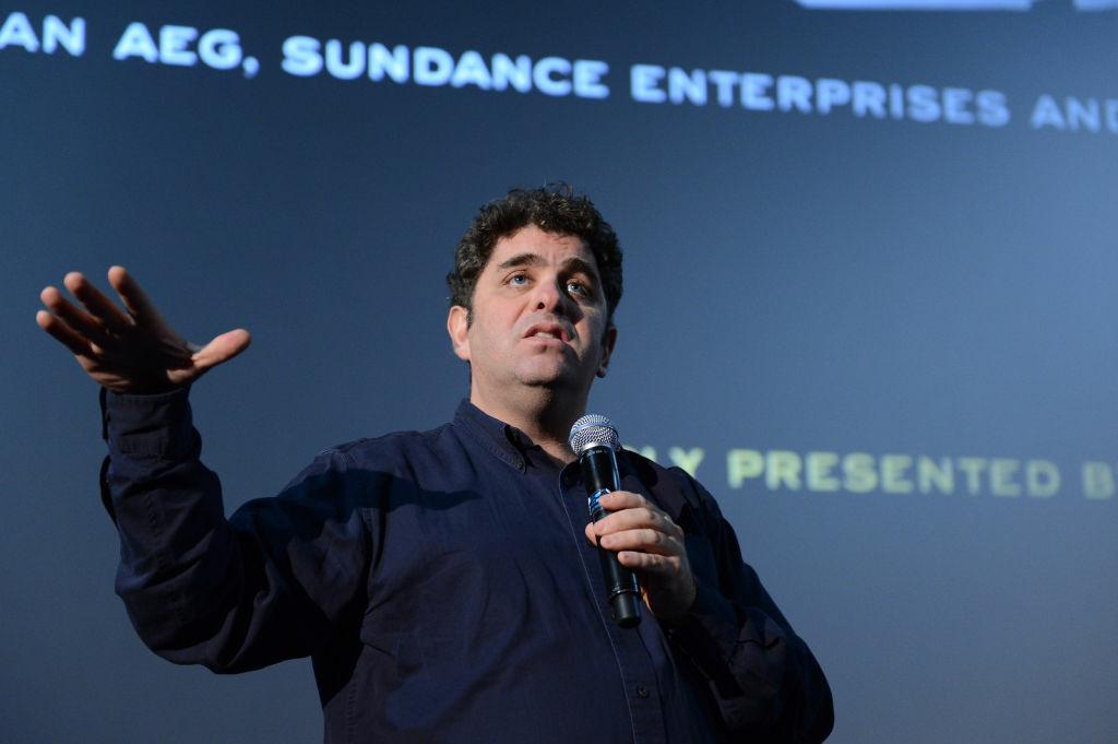 Filmmaker Eugene Jarecki speaks at the