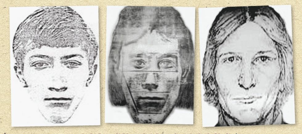 A Los Angeles Magazine article published by Michelle McNamara in 2013 featured this image: a composite sketch by police based on reports of the so-called