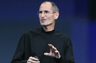 File photo: Apple CEO Steve Jobs speaks during an Apple special event at the company's headquarters on October 20, 2010 in Cupertino, California.