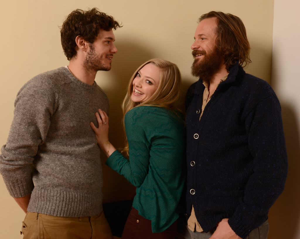 Actors Adam Brody, Amanda Seyfried and Peter Sarsgaard pose for a portrait during the 2013 Sundance Film Festival.