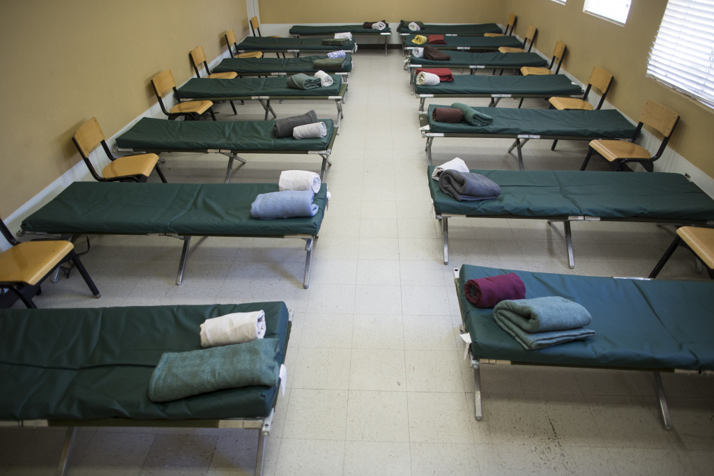 File: A homeless shelter in the Antelope Valley. Orange County officials are facing pushback from cities where they had hoped to cite three temporary shelters.