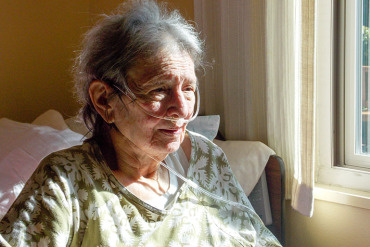 Audrey de Jesus, 83, filled out a Physician Orders for Life-Sustaining Treatment form at Chaparral House in Berkeley. De Jesus has seven children and said the form tells them exactly what she wants — comfort-focused treatment — so there won't be any questions in an emergency.