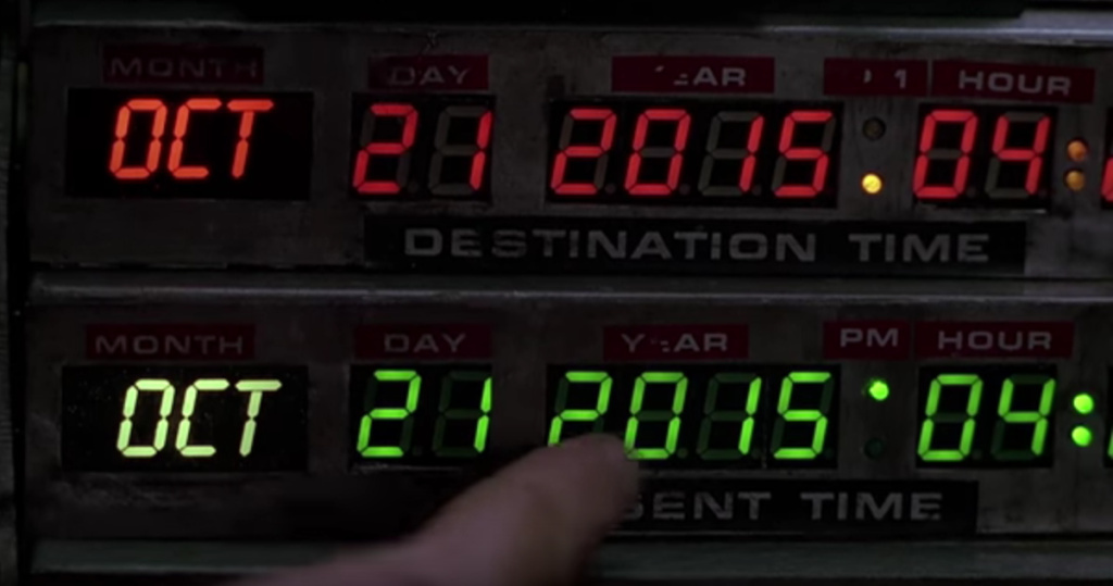 A screen grab from YouTube of a trailer for 'Back to the Future' Day.