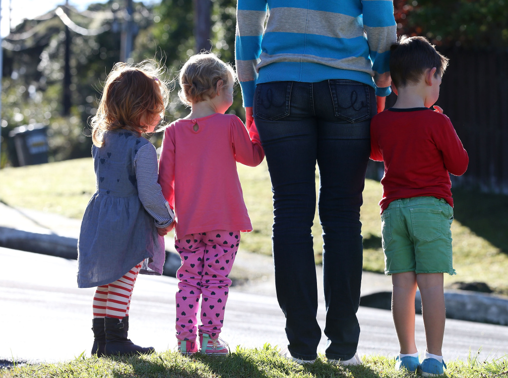 A family in New Zealand. A new study finds that parents are more happy than non-parents.
