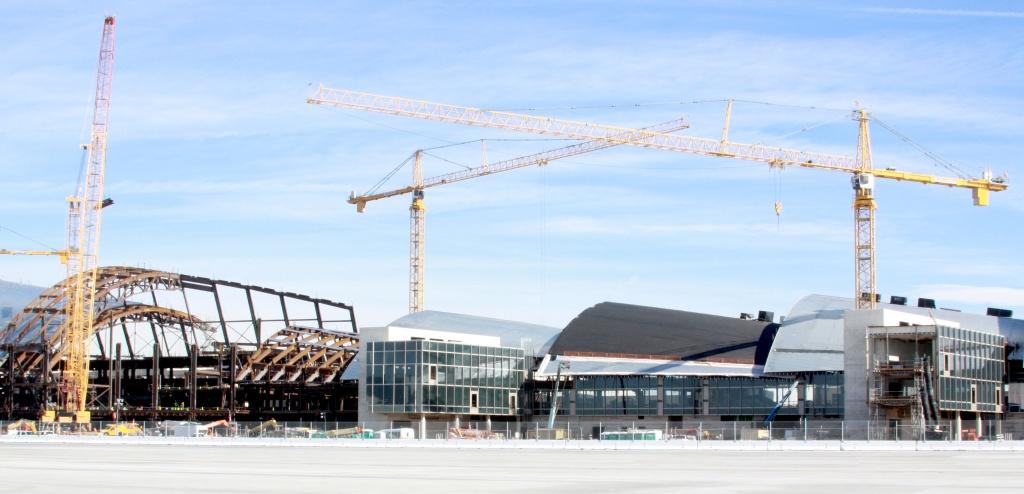 The Bradley International Terminal at LAX under construction.